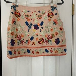 Baby Pink Embroidered skirt